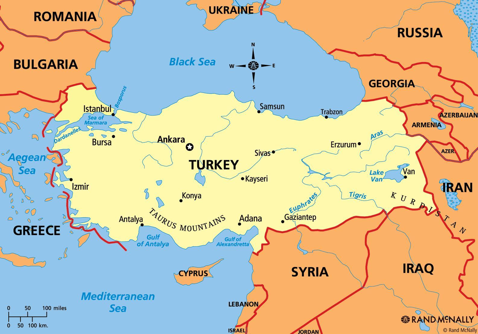 turska mapa Turska kontinenta mapu   Mapa Turska kontinenta (Zapadna Azija  turska mapa