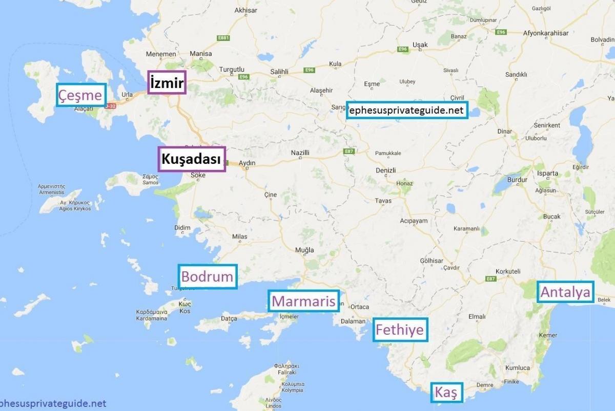 Mapa Turska Praznik Odmaralista Mapa Turska Praznik Odmaralista